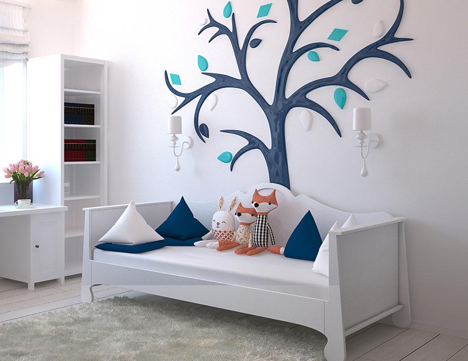 Puste łóżko w dziecięcym pokoju