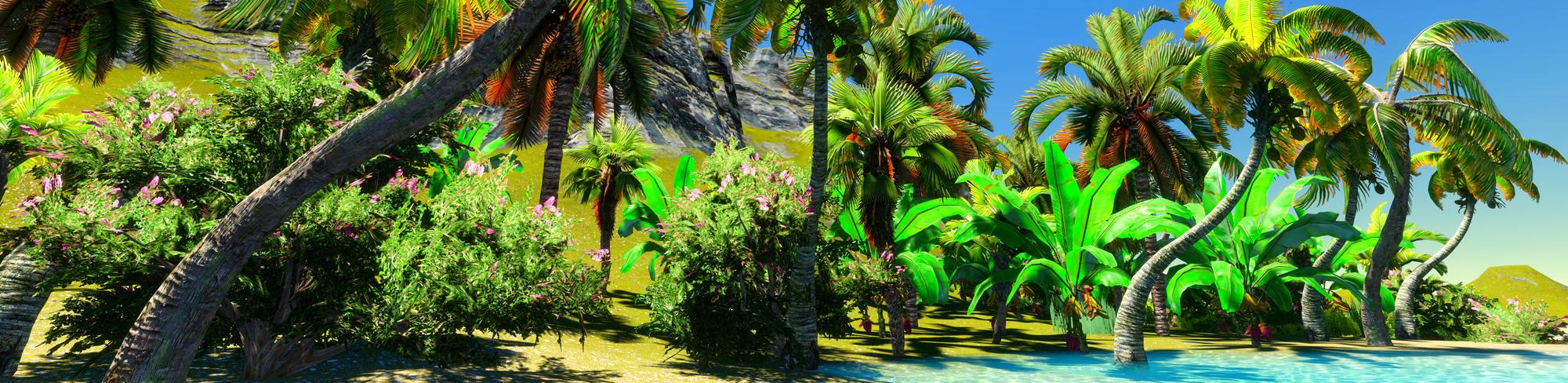 rajska plaża z palmami